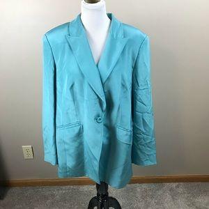 Blue Silk Blazer Bloomingdales